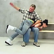 Dominika`s disobedience leads to a harsh OTK spanking