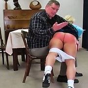 Young girl Katja receives a terrible lashing from the headmaster