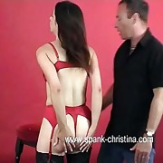 Well done young explicit in white-hot skivvies spanked severely otk on her pert momentary pain in the neck