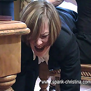 Sharp-witted otk chastising for two girls in stockings - hot tears and blistered nub