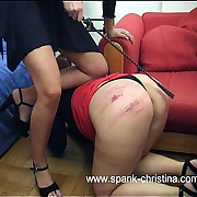Fat round ass gets blistered coupled with gone to rack with a riding crop wits viscious blonde bitch