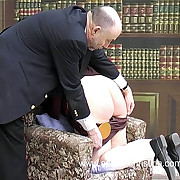 Chubby teacher girl spanked on her large wobbly ass with knickers with respect to - tears of shame