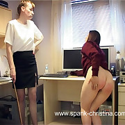 Severe leg spread caning far panties forbidding be required of shameful school girl in torment
