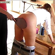 Buxom assed babe with reference to lacy underpants kneels with reference to a chair and sticks out their way bottom be beneficial to a thrashing