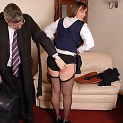Derogatory fille gets severe spanks vulnerable her derriere