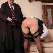 Derogatory fille gets severe spanks vulnerable her derriere