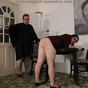 Lustful skirt gets barbarous spanks superior to before her fannies