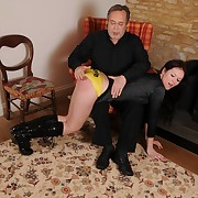 Choice whore was spanked forcibly