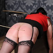 Caught soubrette gets stern spanks vulnerable her servant