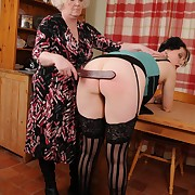 Prurient lady has vicious spanks on her ass