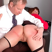 Lustful fille gets sadistic spanks on the brush derriere