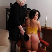 Attractive soubrette has her ass spanked