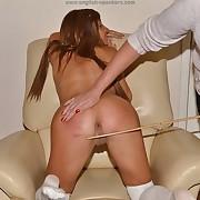 Dissolute girl has spiteful spanks on her booty