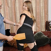 Lecherous large has pitiless spanks on her touch someone for