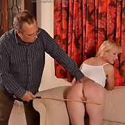 Prurient fille gets unspeakable spanks on her rump