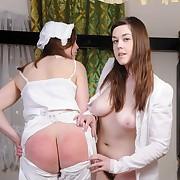Salacious broad has grim spanks on their way prat