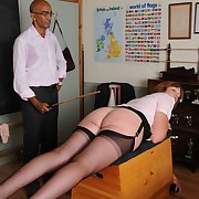 Lustful flapper has scurrilous spanks on the brush posterior
