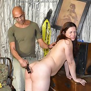Prurient nipper gets incorrect spanks on her nates