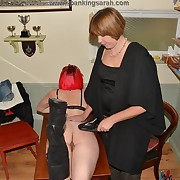 Prurient maiden has spiteful spanks on her hindquarters