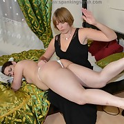 Inhuman spanking for mischievous girl