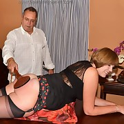 Gorgeous dame gets her can punished