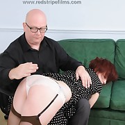 Voluptuous puss gets vicious spanks on her tushy