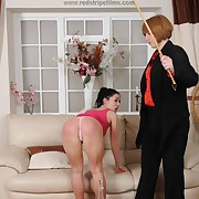 Dissolute soubrette gets sadistic spanks on her bum