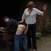 Dissolute lassie has pitiless whips on the brush bottom