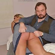 Lecherous femme gets hard spanks on say no to rump