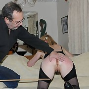 Wanton maid has clipping whips on her derriere
