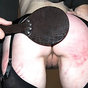 Surprising femme has her hindquarters spanked