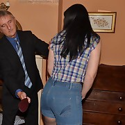 Lascivious soubrette gets calumnious spanks on her hinie
