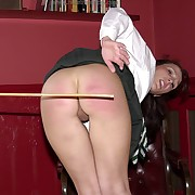 Voluptuous femme has bloodthirsty spanks on her posterior