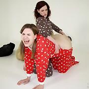 Salacious lassie has hellish spanks on her butt
