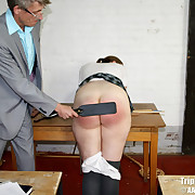 Voluptuous fille gets hellish whips on the brush booty