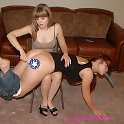 Lecherous quean gets severe spanks on her rump