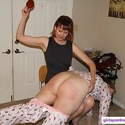 Filthy wench has hard spanks on her butt