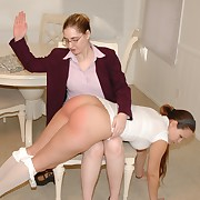 Lecherous wench has hellish spanks on her fannies