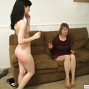 Filthy lady gets pitiless spanks on her fannies