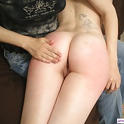 Lustful puss has fell whips on her hindquarters