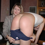Voluptuous maiden gets fell whips on her nates