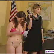 Great babe gets her prat punished