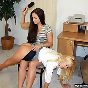Filthy soubrette has spiteful spanks on her bottom