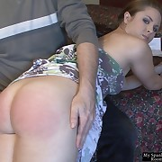 Shunned miss has depraved spanks out of reach of her hindquarters