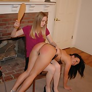 Prurient lass gets savage spanks on her butt