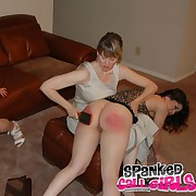 Lustful girl has grim spanks in excess of will not hear of tush