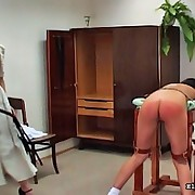 Ponytailed whore acquires flogged for being a of a female lesbian