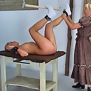 The breasty blonde has her body flogged
