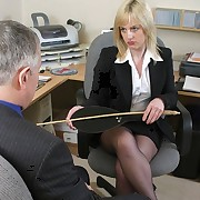 Lady boss punished man