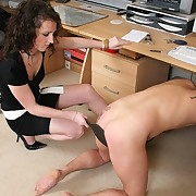 Bad boy got his ass paddled in office